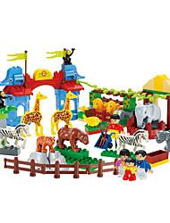 105pcs briques de blocs de construction en plastique zoo Puzzle Jeux jouets