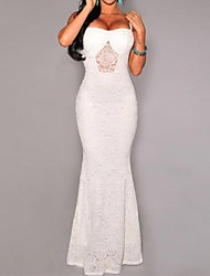Women's Lace Strap White Lace Dress