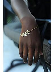moda shixin® pulseiras 18 centímetros flores femininas Charm (ouro, prata) (1 pc)