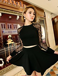 Women's Pan Collar Bodycon Dress (Top& Skirt)