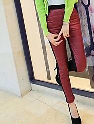 lana complemento de la mujer molesta pantalones elegantes elásticas