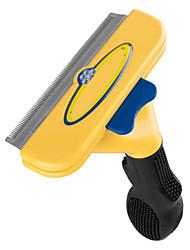 herramientas de color amarillo para el cabello y la piel de aseo para mascotas