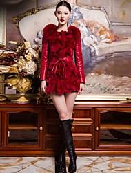 pelliccia di volpe cappotto sottile delle donne (più colori)