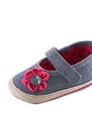 Chaussures bébé Robe Coton Ballerines Bleu