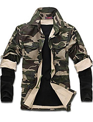 camouflage de la mode grande taille mélange de coton casual spéciale outillage du vent, des hommes