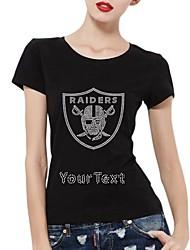 t-shirt personalizados raider protetor do crânio de algodão mangas curtas padrão das mulheres