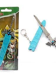 Cosplay Accessories Inspired by The Legend of Zelda Cosplay Anime/ Video Games Cosplay Accessories Keychain Blue Alloy Male
