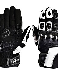 Cycling Outdoor Unisex's Fashion Anti Falling Carbon Fiber Knight Leather Motorcycle Gloves