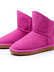 botas térmicas md couro longo vaca das mulheres com bowknot