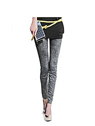Women Denim Legging , Cotton Blends Thin