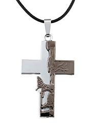 Men's Fashion Zinc Alloy Cross Butterfly Pattern Necklace(1pc)
