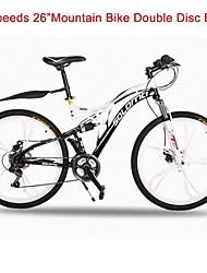"27 Speeds TAIWAN Micro 26"" *17 SLM™ Disc Brake Mountain Bike 6 Spokes Flat Tire Fork Shock Absorption"
