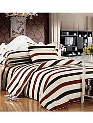 Set of 4  Stripe Rainbow l Bamboo Fiber  Duvet Covers