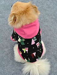 Cool Christmas Tree Soft Fleeces Hoodies for Pet Dogs (Assorted Sizes)