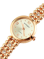 SOHA rose gold diamond bead bracelet watch for women