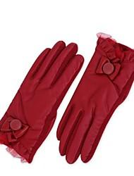 mode papillon noeud des gants de laine chaude de femmes en plein air