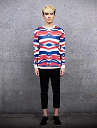 JoanneKitten® Men's Wavy Striped Print Long Sleeve T-Shirt