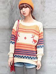 invierno suéter tejido de punto de moda femenina maifeng