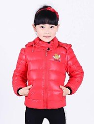 Girl's Fashion Lovely with Hooded Thickening Warm Coat