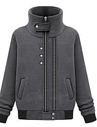 lazer moda gola alta casaco camisola n roll de rock feminino