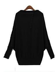 Women's Plus Size Knitwear Batwing Shirt