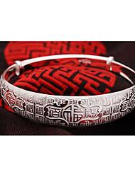 Weimei женская элегантная повезло рисунок серебряный браслет