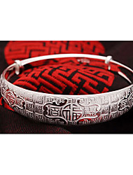 elegant Glück Muster Silber Armband weimei Frauen