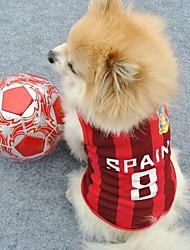 número 8 españa ropa deportiva para perros (diferentes tamaños)