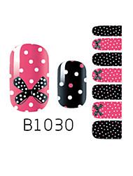 yemannvyou®14pcs bowknot moda&local unhas B1030 arte brilho da etiqueta