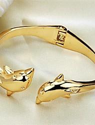 golfinhos moda personalidade ms chapeamento bracelete de ouro 18k