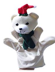 1pcs noël ours de neige main parent-enfant&marionnettes de doigt enfants parlent prop