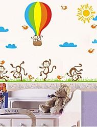 JiuBai® Cartoon Fire Ball And Monkey Wall Sticker Wall Decal