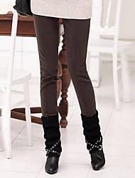 yiqi® Frauen verdicken Vlies schlanke Übergrößen Hosen