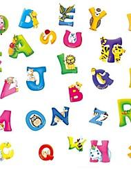 lettres autocollants muraux PVC de dessin animé pour enfants