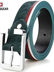 SWISSGEAR® Mens Genuine Matte Suede Leather Buckle Belt