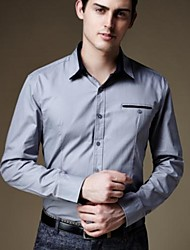 Men's Solid Formal Shirt,Cotton Long Sleeve