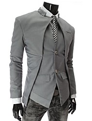 Men's Long Sleeve Regular Blazer , Cotton Pure