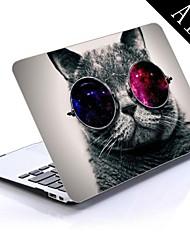 cool cat ontwerp full-body beschermende plastic behuizing voor de 11-inch / 13-inch nieuwe MacBook Air