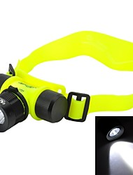 Headlamps / Diving Flashlights/Torch LED 3 Mode 200-230 Lumens Adjustable Focus / Waterproof / Rechargeable / Impact ResistantCree XR-E