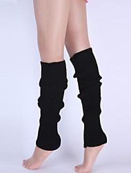 Los colores del caramelo de las mujeres que hacen punto de ajuste del pie del algodón calentadores de la pierna