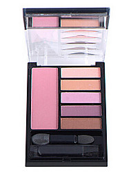 Smoky Eyes 5 Colors Eye Shadow with blusher Cosmetic Set