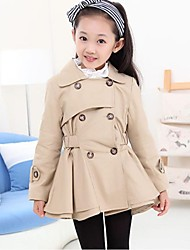 Girl's Fashion Double Breasted Coat