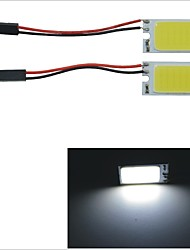 Carking™ T10 / BA9S / Festoon 28mm~40mm 3W 21-COB LED White Car Interior Dome Light(2PCS)