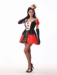 Queen of Broken Hearts Black & Red poliestere Costume da donna