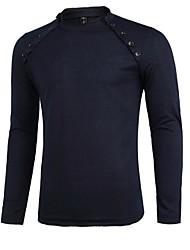Moda slim t-shirt dos homens