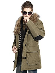 VaLS™ Men's New Arrivals Fur Stand Collar Winter Fashion Warm Jackets/Outdoors Long Jacket Parka,Brand Cotton Coat