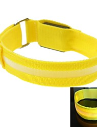 LED Light Screen Arm Band Strap Armband Yellow (2xCR2032)