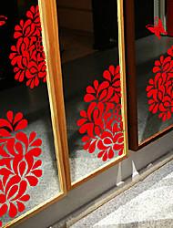 """Frohe Weihnachten künstlerischen Blumenblütenblätter Fensteraufkleber (11.04 """"w × 5,88"""" l)"""