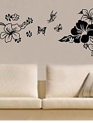 decalques de parede adesivos de parede, parede flor casa decoração mural adesivos de PVC