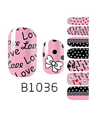 YeManNvYou®14PCS Fashion Lovely Bowknot Nail Art Glitter Sticker B1036
